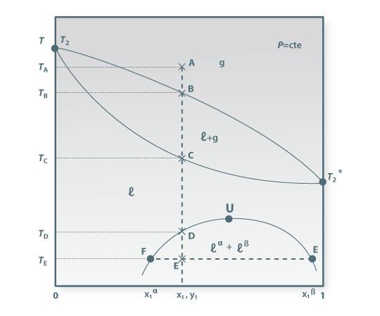 Portal de engenharia quimica fundamentos esquema ilustrativo do diagrama de fases de um sistema com formao de duas fases lquidas ccuart Image collections